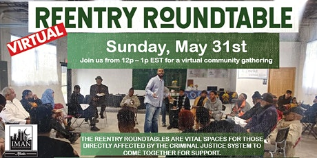 Virtual ReEntry Roundtable | May 31st tickets