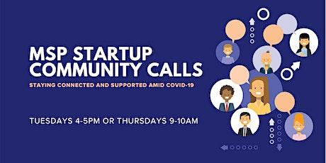 MSP Startup Community Calls tickets