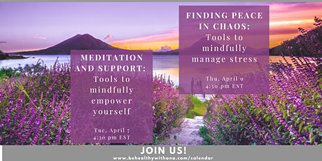 FREE WEBINAR: Finding Peace in the Chaos tickets
