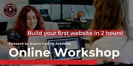Texas Tech Coding Academy | VIRTUAL Learn to Code Workshop tickets