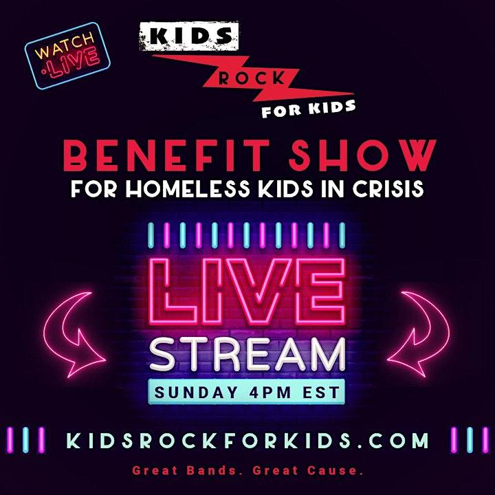 KIDS ROCK FOR KIDS - FREE  Livestream Benefit - Amazing Teen Bands image