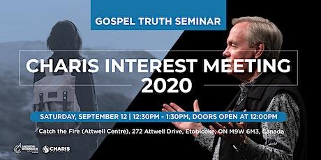 GTS - Charis Interest Meeting 2020 tickets