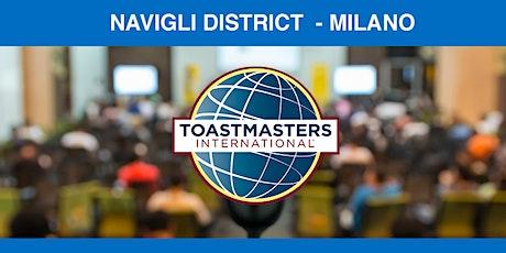 Navigli District Toastmasters Public speaking Digital evening biglietti