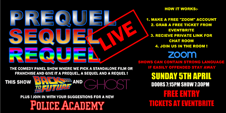 Prequel, Sequel, Requel - Live ! Back to the Future & Ghost episode tickets