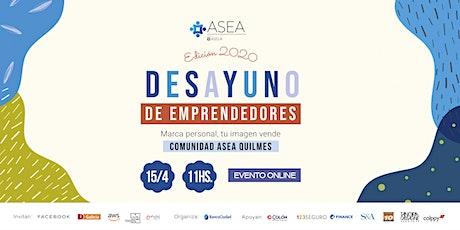 Webinar Desayuno de Emprendedores Quilmes| Abril entradas
