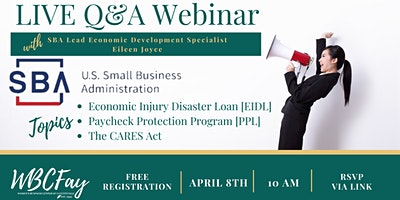 LIVE Q&A Webinar w/ Eileen Joyce of the U.S. Small Business Administration