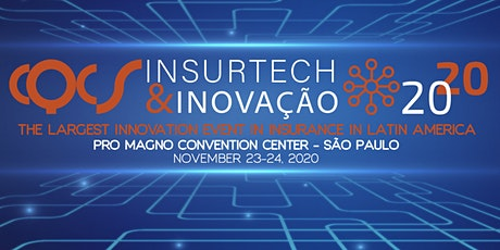 CQCS INSURTECH & INOVAÇÃO  -  23 and 24 November 2020. ingressos