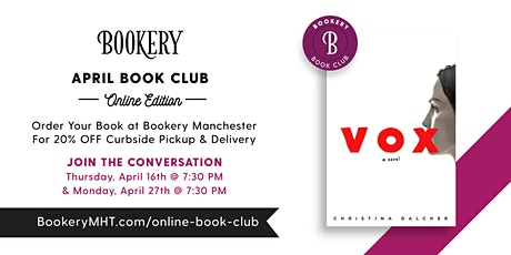Online Bookery Book Club tickets