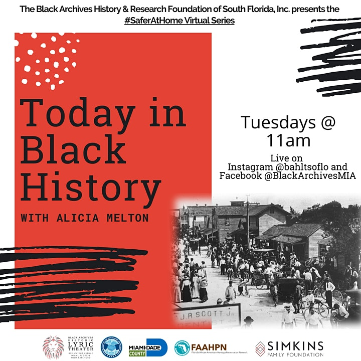 Today in Black History with Alicia Melton #SAFERATHOME VIRTUAL SERIES image