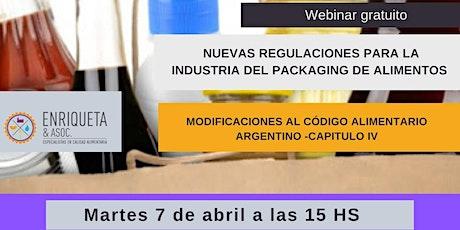 Webinar gratuito: Nuevas regulaciones para la industria del Packaging de Alimentos entradas