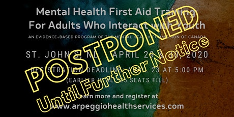 Mental Health First Aid Training: YOUTH - St. John's, NL tickets