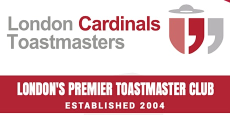 London Cardinals Toastmasters Zoom Meeting Online tickets