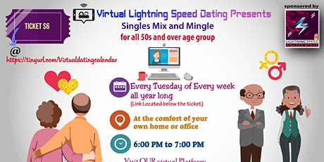 ZOOM Thursday Virtual Dating: 50s & Over age Group Singles Mixer tickets