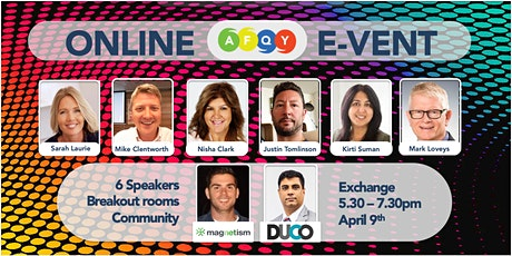 #onlineAFQYevent -  April 9th 2020 tickets