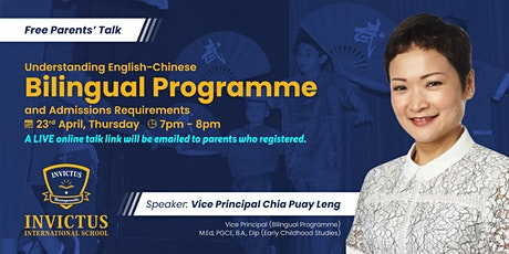 Understanding English-Chinese Bilingual Programme & Admissions Requirement tickets