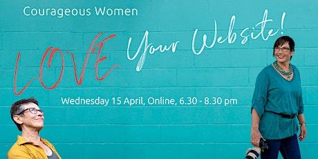 Courageous Women Love Your Website! tickets