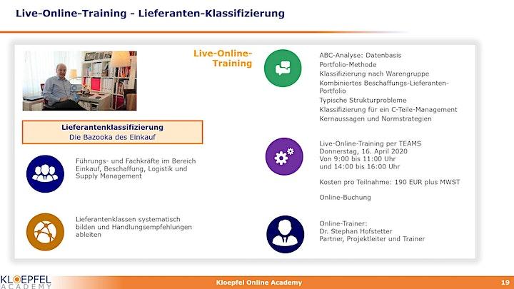 Lieferanten-Klassifizierung | Live-Online-Training: Bild