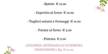 menu d'asporto per Pasqua e Pasquetta- La Sosta del Buongustaio, Ghedi biglietti