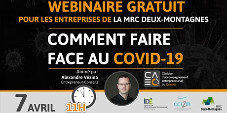 Entrepreneur : Comment faire face au Covid-19 (MRC Deux-Montagnes) billets
