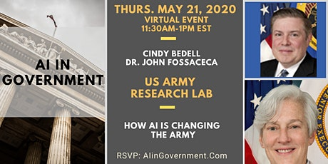 VIRTUAL AI in Government - Cindy Bedell and John Fossaceca, Dept. of Army tickets