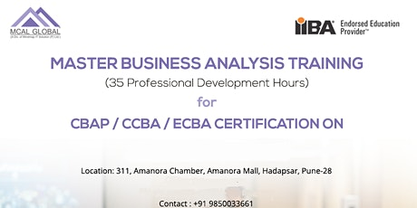 Master Business Analysis Training – the best Business Analyst Course in Pune and Mumbai tickets