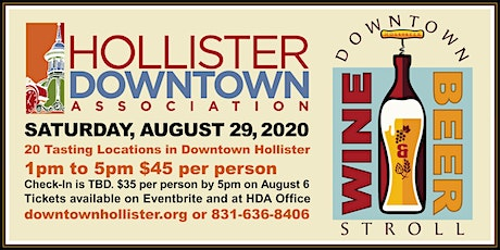 Downtown Hollister Wine & Beer Stroll tickets