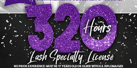 320 Hour Eyelash Extensions Specialty License Program tickets