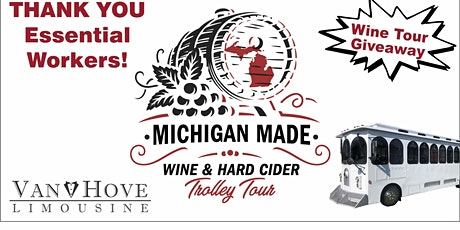 Essential Worker  Wine & Hard Cider Trolley Tour Giveaway tickets