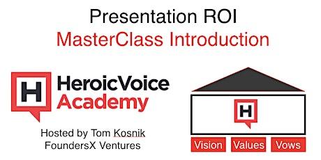 Presentation ROI MasterClass - An Online Introduction (Apr 15) tickets