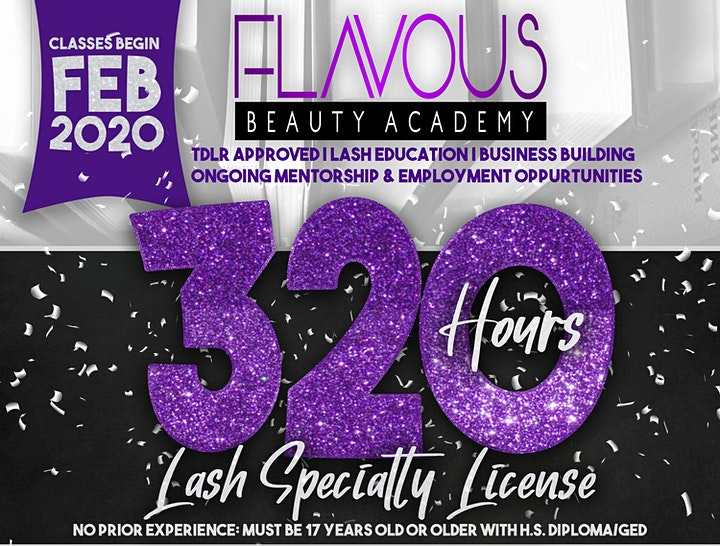 320 Hour Eyelash Extensions Specialty License Program image