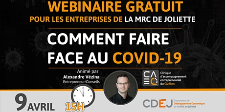 Comment faire face au Covid-19 (MRC de Joliette) tickets