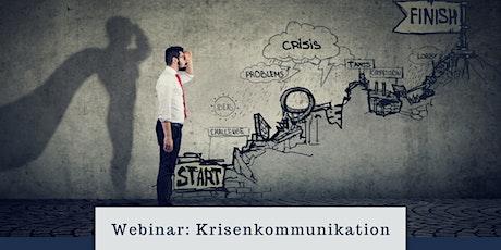 Webinar: Krisenkommunikation Tickets