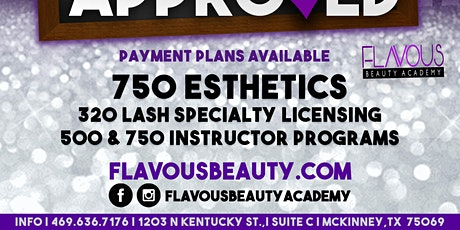 750-Hour Esthetics Program- N. Dallas Area tickets