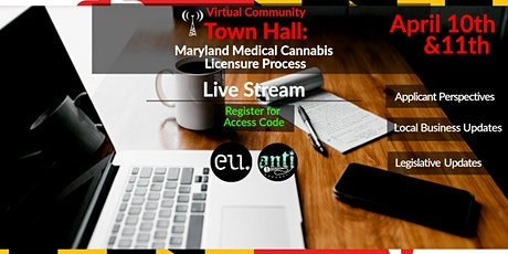 Maryland Medical Cannabis Licensing Process & Updates- Virtual Townhall Tickets