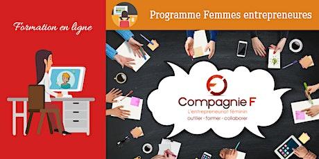 Séance d'information Zoom pour la formation en ligne femme entrepreneure  tickets