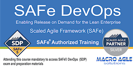 SAFe DevOps Training with Certification-Virtual Instructor Led Class tickets