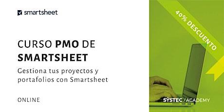 Curso PMO de Smartsheet: Gestiona tus proyectos y portafolios boletos