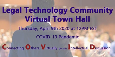 Adaptive Solutions Legal Community 'Virtual' Town Hall regarding COVID-19 tickets