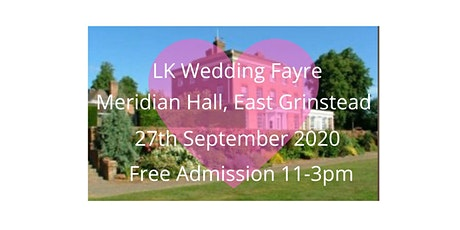 Boutique Wedding Fayre, Meridian Hall, East Grinstead tickets