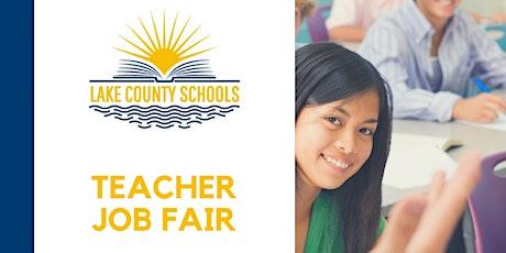 Lake County Schools 2020 Teacher Job Fair (Online) tickets
