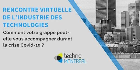 Atelier virtuel de l'industrie des  technologies - lutte contre le Covid19 billets