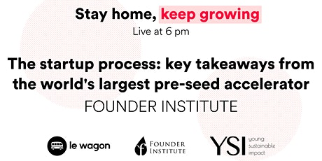 [ONLINE] The startup process: key takeaways from a pre-seed accelerator tickets