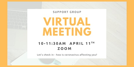Virtual Support Group Meeting tickets