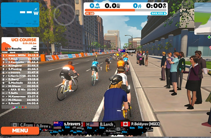 Virtual Cycling on Zwift image