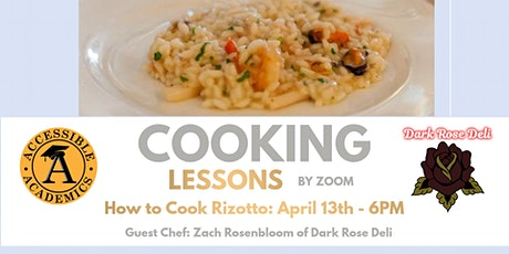 Free Remote Cooking Lessons: How to Cook Rizotto tickets