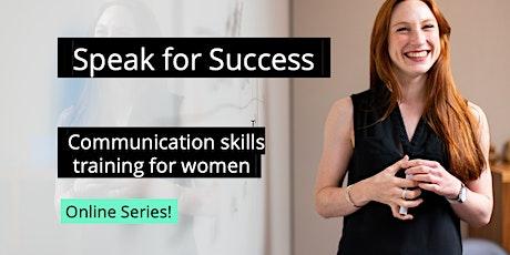 4-Part Public Speaking Workshop (Online Series!) tickets