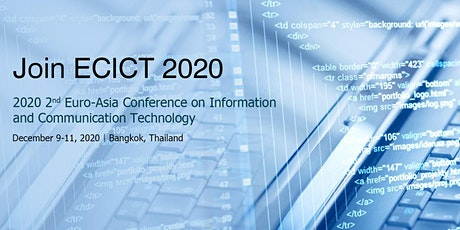 Conference on Information and Communication Technology (ECICT 2020) tickets