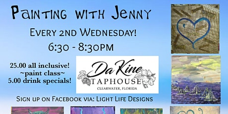 Painting with Jenny at@ Da KineTaphouse Clearwater Fl tickets