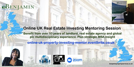 Online UK Real Estate Investing Weekly Mentoring 45min Session Via Zoom tickets