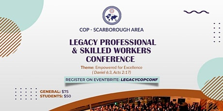 COP Scarborough Area: Legacy Conference 2020 tickets